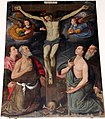 Leonardo mascagni, crocifisso tra i ss. marco, girolamo, sebastiano e antonio abate, 1594, dalla distrutta chiesa di s. marco.JPG