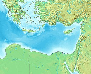 Levantine Sea - Map of the Levantine Sea