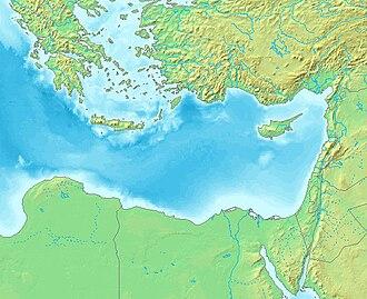 Levantine Sea - Map of the Levantine Sea