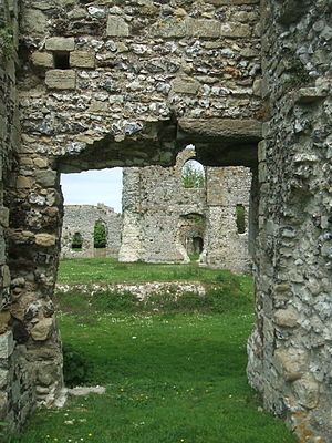 Lewes Priory - A cross view of the existing ruins