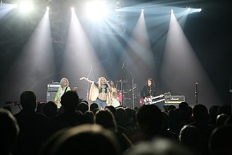 Shannon Conley - Shannon (center) performing with Lez Zeppelin