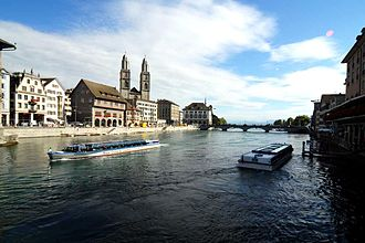 Zürich - The Limmat in Zürich