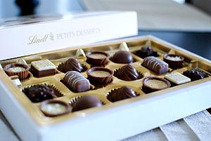 Swiss chocolate - Swiss chocolate truffles and pralines of Lindt & Sprüngli.