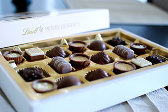 Swiss chocolate - Swiss chocolate truffles and pralines of Lindt & Sprüngli.