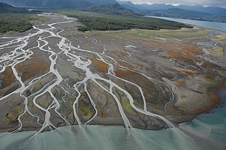 River delta - Delta on Kachemak Bay at low tide