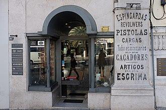 Gun ownership - A gun store in Lisbon, Portugal