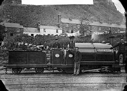 Little Giant locomotive engine, Ffestiniog railway NLW3363951.jpg