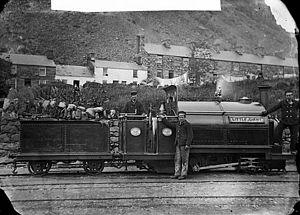 Ffestiniog Railway - Little Giant locomotive engine, Ffestiniog railway circa 1875