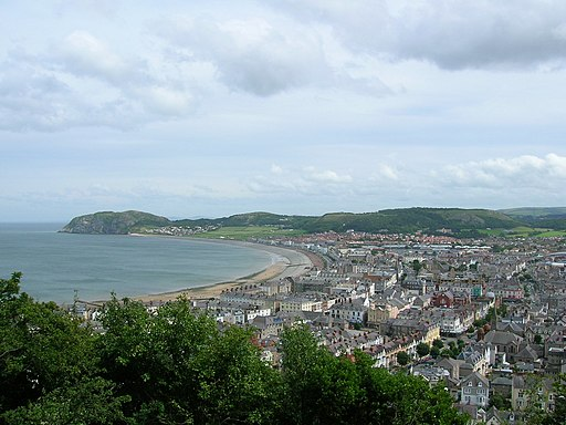 Llandudno, general view from Great Orme
