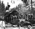 Loading crew and donkey engine, camp 4, Coats-Fordney Lumber Company, near Aberdeen, ca 1920 (KINSEY 1900).jpeg