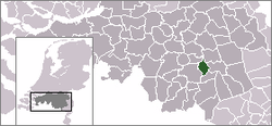 Location of Nuenen, Gerwen en Nederwetten