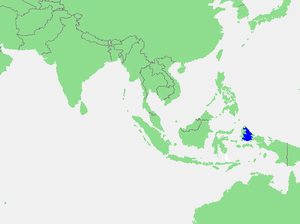 Halmahera Sea - Location of Halmahera Sea within Southeast Asia