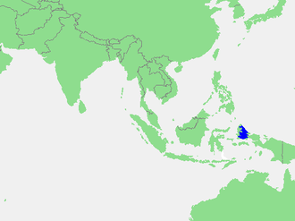 Halmahera Sea - Location of the Halmahera Sea within Southeast Asia.