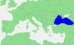 Мапа поширення чорноморської афаліни