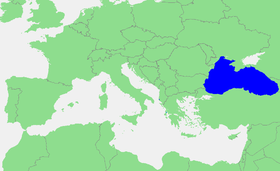 Localización del mar Negro.