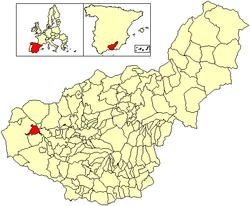 Vị trí của Huétor-Tájar