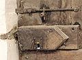 Lock of the door to the sacristy Saint-Éloi.jpg