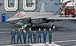 Lockheed Martin F-35C Lightning II CF-05 Carrier Variant Air Test and Evaluation Squadron 23 (VX-23) USS Nimitz (CVN-68) (15754820186).jpg