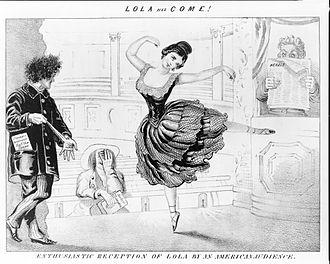 David Claypoole Johnston - Image: Lola Has Come ca 1852 by D Claypoole Johnston Library Of Congress