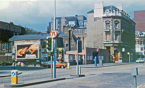 Barbican tube station - The old entrance in 1981