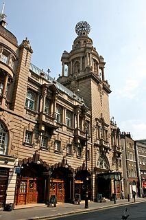 London Coliseum theatre in London, home to the English National Opera