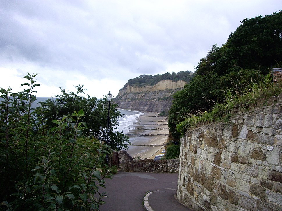 Looking west from Shanklin chine