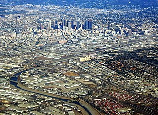 Los Angeles River river in California that was the primary source of fresh water for the city but suffers pollution from agricultural and urban runoff.
