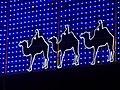 Los Reyes Magos en iluminación navideña en Madrid, Spain.JPG