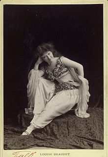 Louise Beaudet stage actress in harem costume.jpg