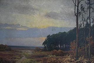 Landscape with pine forest