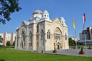 Lučenec - Image: Lučenec synagóga (2016)