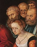 Lucas Cranach d. Ä. - Christ and the Adulteress (detail) - WGA05670.jpg