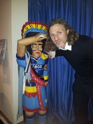 Wycombe Comanche - The Wycombe Comanche with manager Gareth Ainsworth