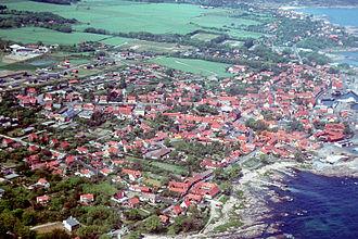 Allinge-Sandvig - Allinge (aerial view)