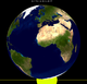 Lunar eclipse from moon-2017Feb11