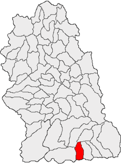 Location of Lupeni