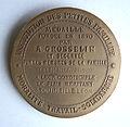 Médaille d'Augustin Grosselin 1800 - 1870 (Verso), graveur Aimé Millet, 1870.JPG