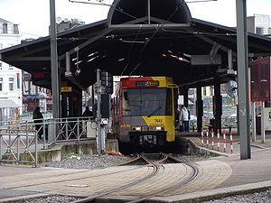 Métro 54 partant de la station Charleroi-Sud