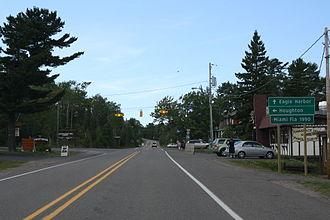 M-26 (Michigan highway) - Northern terminus