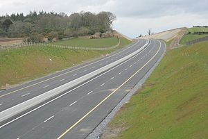 M9 motorway (Ireland) - M9 Carlow bypass under construction in March 2008