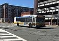 MBTA route 136 bus on Centre Street, April 2018.jpg