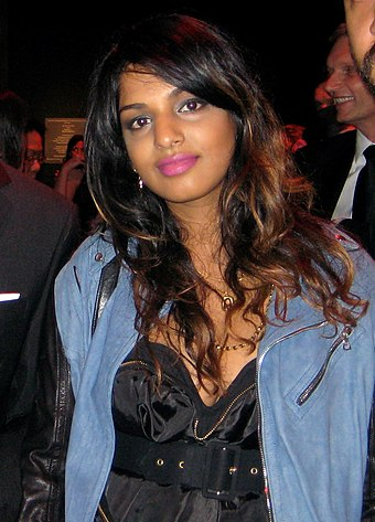 "In 2009, Time magazine placed M.I.A. in the Time 100 list of ""World's Most Influential People"" MIA front face.jpg"