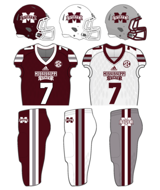 Mississippi State Bulldogs football - Image: MSU Pre 2017 Unis