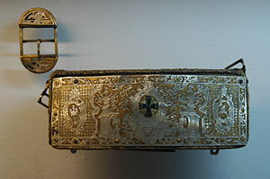 Cartridge box - A cartridge box of Polish 18th century infantry