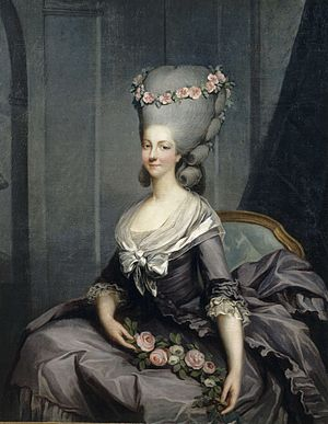 Lady-in-waiting - Marie Louise of Savoy-Carignan, Princesse de Lamballe was lady-in-waiting to Queen Marie Antoinette of France.