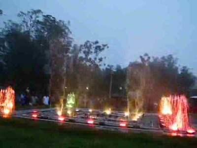 File:Madikeri Raja seat - Musical fountain show 1.ogv