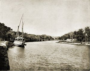 Mahmoudiyah Canal - It's a photo of the Mahmoudiyah Canal taken in 1893