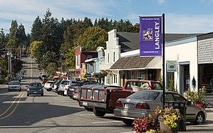 Langley, Washington - Main Street in Langley