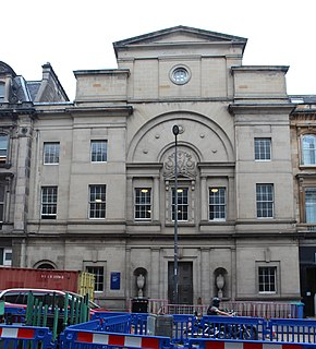 Adam House building in Edinburgh, Scotland