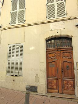 Maison naissance Honore Reille Antibes